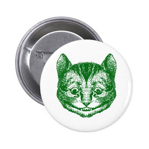 El gato de Cheshire entintó verde Pins