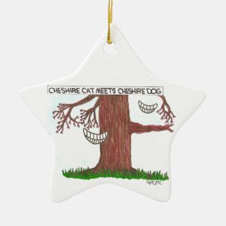 El gato de Cheshire resuelve el perro de Cheshire Ornamento Para Reyes Magos