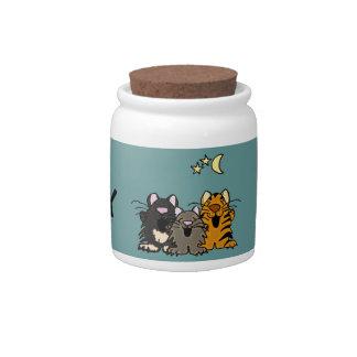 El gato de encargo del gatito AA trata el tarro Jarras Para Caramelos