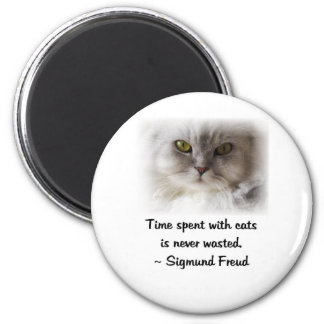 El gato de Freud Imán Redondo 5 Cm