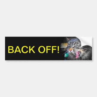 El gato de griterío dice retrocede pegatina para auto
