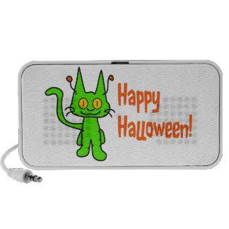 El gato de Halloween Whishes Altavoz De Viaje