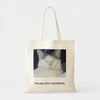 el gato de la Na-mA-estancia dice lo que usted Bolsa Tela Barata