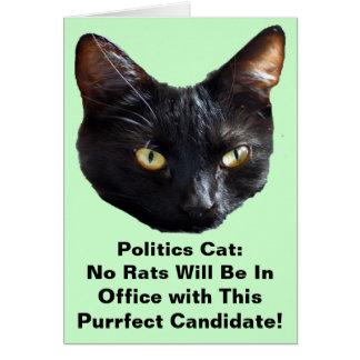 El gato de la política ningunas ratas estará en of tarjeton