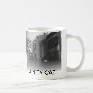 El gato de la seguridad de Diane reflexiona Taza