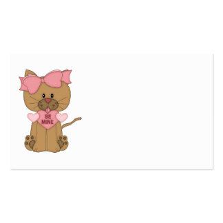 El gato de las tarjetas del día de San Valentín se Tarjeta De Visita