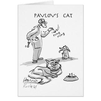 el gato de pAvLoV Tarjeta De Felicitación