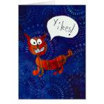 ¡El gato de Scaredy dice YIKES! tarjeta