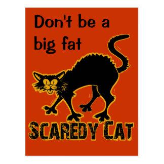 El gato de Scaredy invita Tarjeta Postal