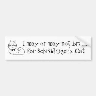 El gato de Schrödinger Pegatina De Parachoque