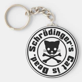 El gato de Schrödinger es muerto Llavero Redondo Tipo Pin