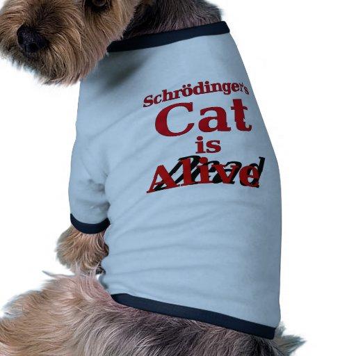 El gato de Schrodinger es muertos vivos Camiseta Con Mangas Para Perro