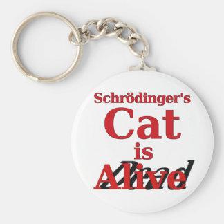 El gato de Schrodinger es muertos vivos Llavero Redondo Tipo Pin