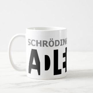 ¿El gato de Schrödinger es??? Taza Básica Blanca