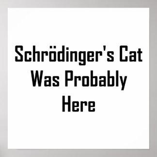 El gato de Schrodinger estaba probablemente aquí Póster