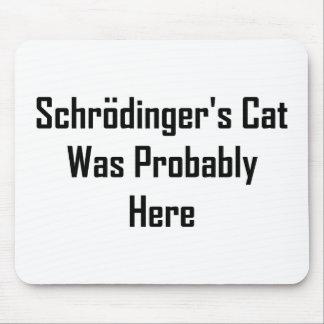 El gato de Schrodinger estaba probablemente aquí Tapete De Ratones