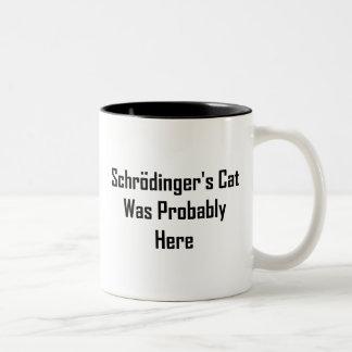El gato de Schrodinger estaba probablemente aquí Taza Dos Tonos