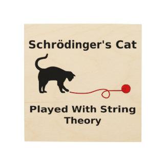 El gato de Schrödinger jugado con teoría de la Cuadros De Madera