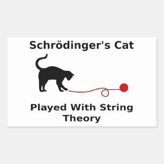 El gato de Schrödinger jugado con teoría de la Pegatina Rectangular