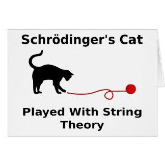 El gato de Schrödinger jugado con teoría de la Tarjeta De Felicitación