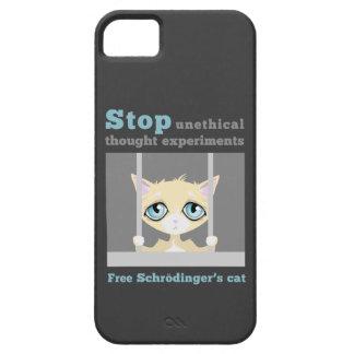 El gato de Schrodinger libre iPhone 5 Cárcasa
