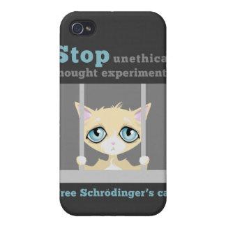 El gato de Schrodinger libre iPhone 4 Funda