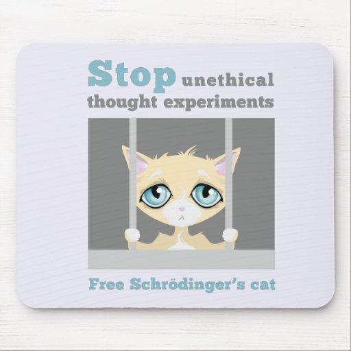 El gato de Schrodinger libre Mouse Pads