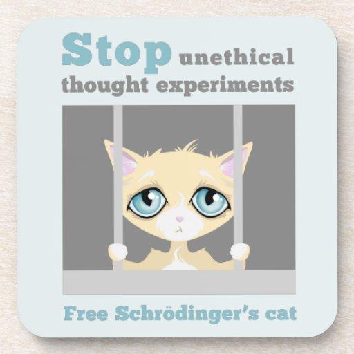 El gato de Schrodinger libre Posavasos De Bebida