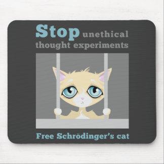 El gato de Schrodinger libre Tapetes De Raton