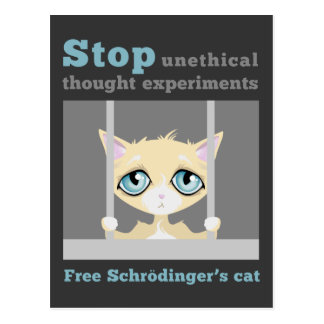 El gato de Schrodinger libre Tarjetas Postales