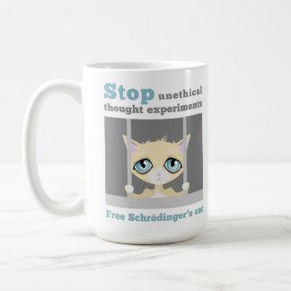 El gato de Schrodinger libre Taza Básica Blanca