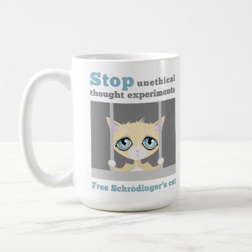 El gato de Schrodinger libre Taza De Café