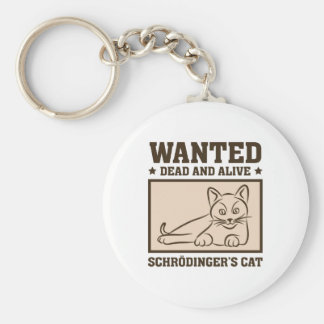 El gato de Schrodinger Llavero Redondo Tipo Pin