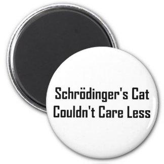 El gato de Schrodinger no podía cuidar menos Imanes De Nevera