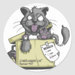 El gato de Schrodinger - nuevo Etiquetas Redondas