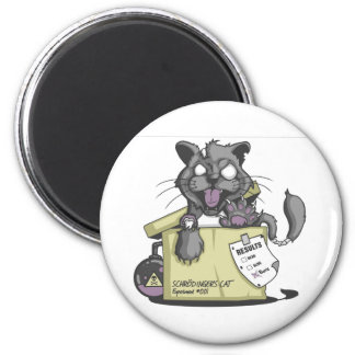 El gato de Schrodinger - nuevo Imán Redondo 5 Cm
