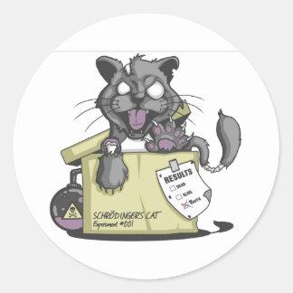 El gato de Schrodinger - nuevo Pegatina Redonda