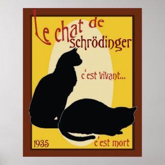 El gato de Schrodinger Póster