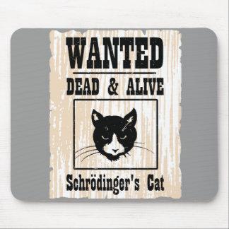 El gato de Schrodinger querido Mouse Pads