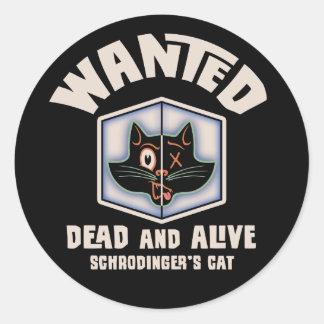 El gato de Schrodinger querido Pegatina Redonda