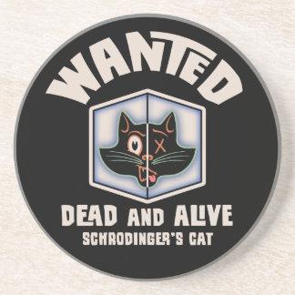 El gato de Schrodinger querido Posavasos De Arenisca