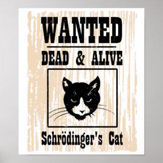 El gato de Schrodinger querido Póster