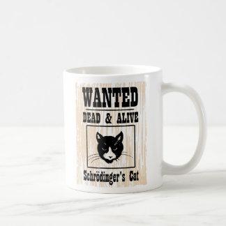 El gato de Schrodinger querido Taza Básica Blanca