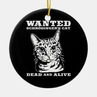 El gato de Schrodinger quiso a muertos o vivo Ornamento Para Arbol De Navidad