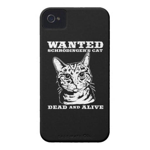 El gato de Schrodinger quiso a muertos o vivo Funda Para iPhone 4 De Case-Mate