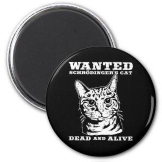El gato de Schrodinger quiso a muertos o vivo Imán Redondo 5 Cm