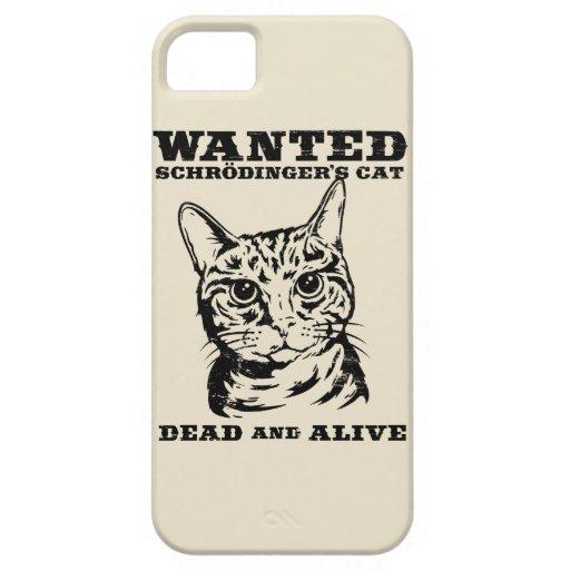 El gato de Schrodinger quiso a muertos o vivo iPhone 5 Funda