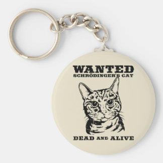 El gato de Schrodinger quiso a muertos o vivo Llavero Redondo Tipo Pin