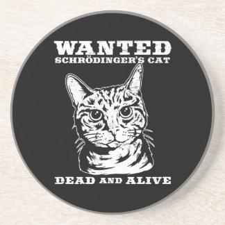El gato de Schrodinger quiso a muertos o vivo Posavasos Manualidades