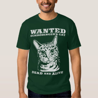 El gato de Schrodinger quiso a muertos o vivo Remera
